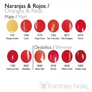 Orange & Red Shades Collection 15 ml