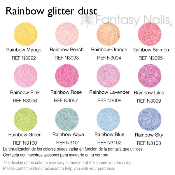 Glitter Kit Rainbow Glitter Dust 12 väriä