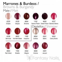Brown & Burgandy Shades Collection 15 ml