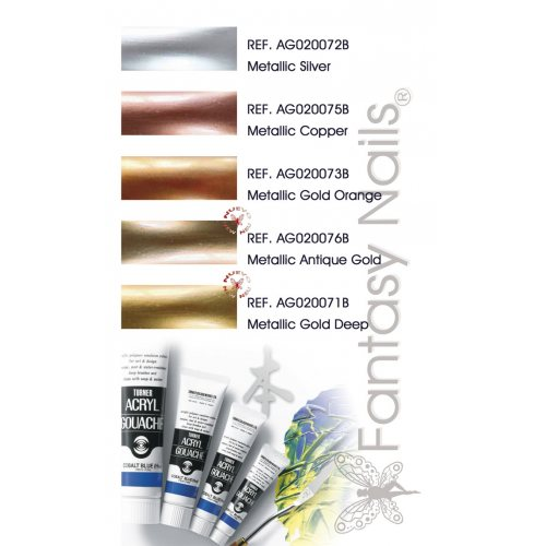 Turner Acryl Gouache - Metallic Colours 20 ml